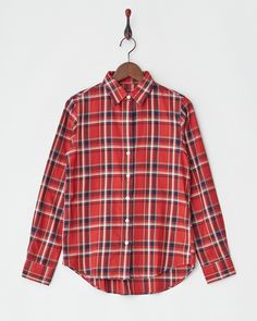 SHIPS FOR WOMEN'S レッド チェックコットンシャツ