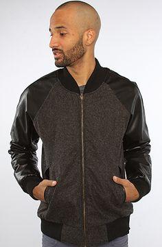iridium Iridium Varsity Wool Leather Jacket