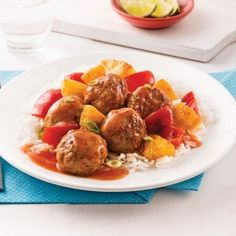 Cooking Tips Printable Meatball Recipes, Pork Recipes, Paleo Recipes, Asian Recipes, Ethnic Recipes, Sweet And Sour Meatballs, How To Cook Meatballs, One Pot Dishes, One Pot Meals