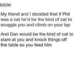 Excuse you I want them as cats now