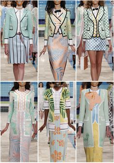 Patternbank are loving the latest SS17 collection from Thom Browne. Fifties luxury tropical cruise style, with checkerboard patterns, striking appliquéd graphic ferns and bold hibiscus florals.