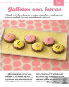 Fascículo 3 de Pastelería Creativa - Galletas con letras