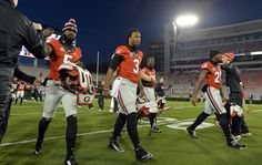 Georgia running back Todd Gurley enters Sanford Stadium before the Auburn game on Saturday, Nov. 15, 2014.  Gurley is returning following a four-game suspension. ~
