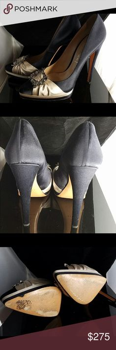 Black/Taupe Casadei Pumps Almost new black and taupe Casadei Pumps. 4 inch heel, worn once and in excellent condition. Casadei Shoes Heels