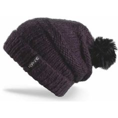 DAKINE Scruntch Beanie - black by Dakine. $25.00. The Dakine Women's Scruntch Hat is a free-spirited, slouchy cold weather companion. At home on the ski slopes or by the campfire, this hat has a style all its own. Make it yours, and you'll step out into the cold with a smile on your face. With reverse knit detailing, a ribbed brim, and a big, floppy faux fur pom pom, this is one happy-go-lucky little hat.