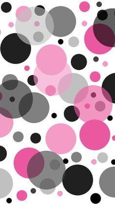 Cute polka dots!! Para hacer con círculos de papeles de seda sobre un fondo blanco