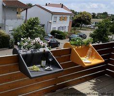 Blumenkästen Balkon Selber Bauen Ideen Wohn Ideen Tiny Balcony, Balcony  Ideas, Wall Mounted Shelves