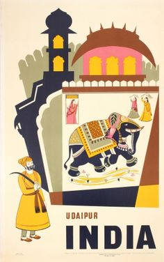 Udaipur, India - Directorate of Advertising and Visual Publicity, 1959 - A Vintage Travel Poster