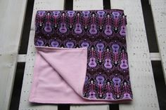 Adorable Cotton and Minky Baby Blanket by ChubbyLove on Etsy, $45.00