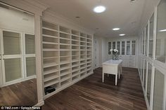 Spacious: The eight-bedroom mansion boasts his n' hers closets and has eight bedrooms in t...