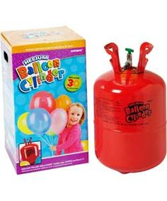Helium Canister for Thirty 9 Inch Balloons.