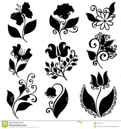 vector-set-flowers-stencils-isolated-white-background-43721156.jpg (1300×1390)