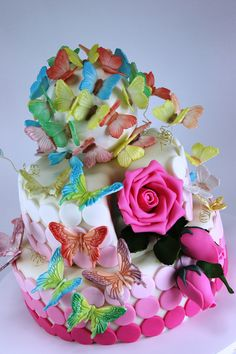 wedding cake butterfly Tort nunta cu fluturasi Nature Cake, Most Beautiful,  Beautiful Cakes, b760c340f1bb
