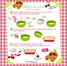 fun recipes for kids dessert ~ fun recipes for kids Kid Desserts, Delicious Desserts, Chefs, Clafoutis Recipes, Cherry Clafoutis, Bakery Business, Little Chef, Cooking With Kids, Food Illustrations