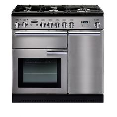 Rangemaster 86870 Professional Plus 90cm Natural Gas Range Cooker in Stainless Steel. Call 01302 63 88 05 for prices.