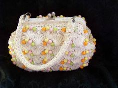 Vintage 1960's Purse by Mantessa CelloStraw with by TraceyAnns