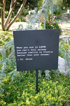 """""""When you are in LOVE you can't fall asleep because reality is finally better than your dreams."""" Dr. Seuss"""