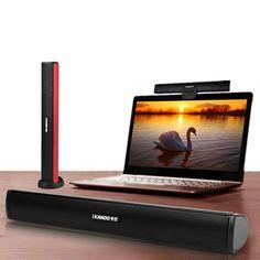 iKANOO Portable Speaker Stereo USB Soundbar Sound Bar Stick Music Player Speakers