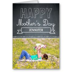 Lovingly Drawn Mothers Day Photo Card #mothersday