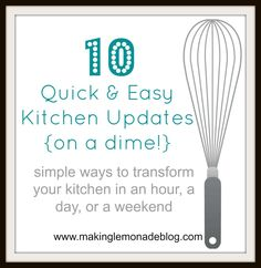 10 Easy Kitchen Updates {on a Dime!}  #diy #kichen #decor