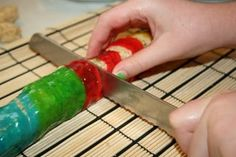 Candy Sushi! Kids can make on their own!