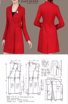 Trendy Tops For Women, Blazers For Women, Coat Patterns, Dress Sewing Patterns, Blazer Pattern, Make Your Own Clothes, Fashion Sewing, Corsage, Sewing Tutorials