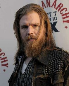 ryan hurst  Opie - Sons of Anarchy. My fav!!!!  I cried for two episodes when he died.  To bad it is not a soap opera. They could bring him back!