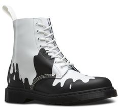PAINT SPLAT PASCAL BOOT. From drmartens.com/us website. They make another boot with the colors reversed. I love this paint splat idea!