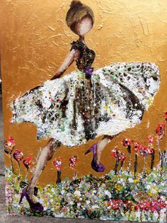 Artist Kim Schuessler (American) One of my favorite artists - LOVE her paintings! Art Journal Inspiration, Creative Inspiration, Illustrations, Illustration Art, Create Collage, Mixed Media Artists, Texture Painting, Woman Painting, Whimsical Art