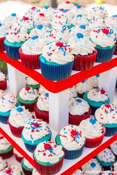 easy 4th july cupcake recipes