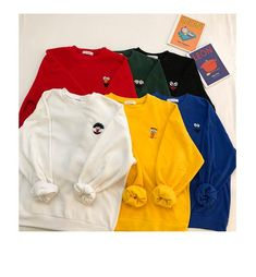 Next Clothes, Cute Comfy Outfits, Comfy Hoodies, Embroidery Fashion, Girls Fashion Clothes, Kawaii Clothes, Printed Sweatshirts, Cute Shirts, Cute Fashion