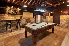 Game Room Garage With Pool Table Gameroom Pinterest Pool Table - Pool table in garage