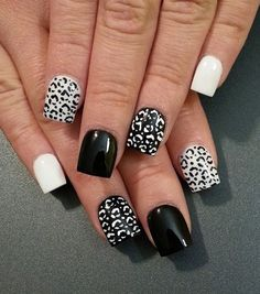 Leopard heart nail art designs pinterest leopards black and white leopard nail art design the alternating effect of the prints and backgrounds give this effect a sleek appearance prinsesfo Choice Image