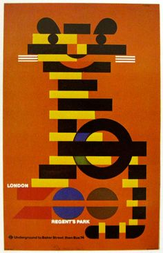 Always loved the posters of Tom Eckersley. Especially the zoo series for london underground.
