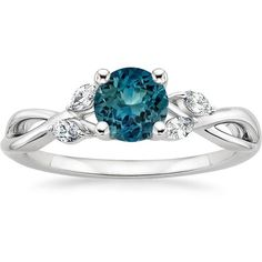 18K White Gold Sapphire Willow Diamond Ring (1/8 ct. tw.) (10,515 MYR) ❤ liked on Polyvore featuring jewelry, rings, diamond vine ring, 18 karat white gold ring, diamond jewellery, vine ring and 18k diamond ring