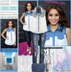 """Star style: Vanessa Hudgens"" by dora04 ❤ liked on Polyvore"