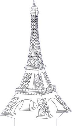 3D illusion eifel premium vector drawing