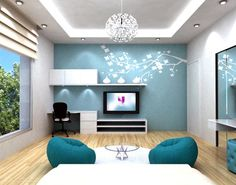 blue bedrooms for teenage girls | Extra Ordinary Blue Teenager Girls Bedroom Interior Designs Extra ...