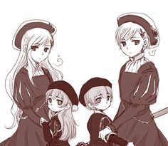 Tags: Fanart, Axis Powers: Hetalia, Pixiv, Norway, Iceland, Nordic Countries, Sira, Nyotalia, Iceland (Female), Norway (Female)