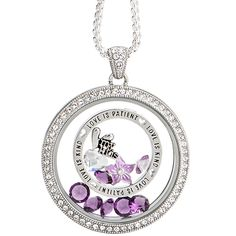 Origami Owl Custom Jewelry | #OrigamiOwl, #Purple, #MothersDay