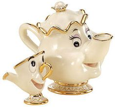 Lenox Collectible Disney Figurine, Beauty and the Beast Mrs Potts and Chip