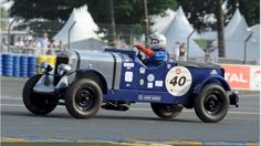 Antonia racing her 1932 Citroen in the Le Mans Classic in 2011. Photo courtesy of Jeff Bloxham.