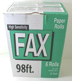 Fax Paper 6 Rolls High Sensitivity x Roll Core Fax Paper, Sensitivity, Core, Office Supplies, Rolls, Ebay, Buns, Bread Rolls