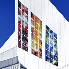 Solar/ Photovoltaic Stained Glass Windows from Sarah Hall Studio