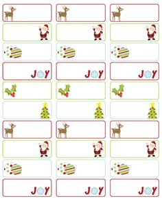 Labels Template | Simplify Christmas Events With Free Microsoft Office Templates
