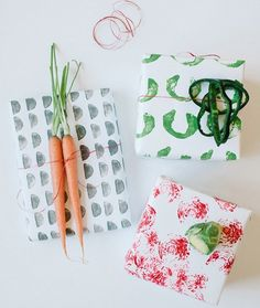 These projects are another great way to create fun out of things lying around the house, just waiting to be re-used. Try some of these materials to create your own DIY stamps:VegetablesCorkPotatoesToilet Paper RollsLeftover Tape Rolls
