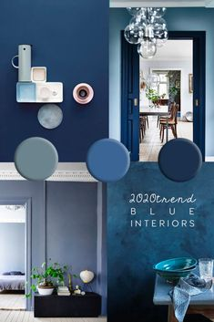 COLOR TRENDS 2020 Blue is the new black also according to Pantone An inspiring round up of inspirations in blue paint design and decor ideas in the blue interior trend and Pantone 2020 color of the year Classic Blue blue colortrends # Interior Design Blogs, Interior Paint Colors, Paint Decor, Interior Decorating, Decorating Ideas, Decorating Websites, Dulux Paint Colours Blue, Interior Painting Ideas, Studio Interior