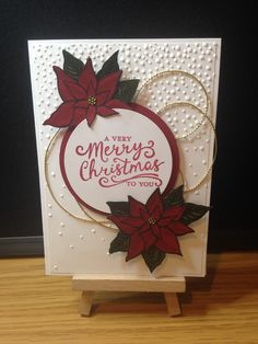 Reason for the Season Stampin Up This punch can be used for different color flowers, not just for Christmas.