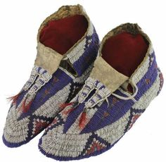 1880-1890's Sioux Ceremonial moccasins