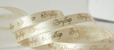 Papirdesign: Bånd - bryllup beige&gull